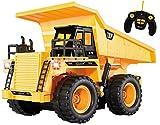 Autocarro della Top Race® a 5 canali pienamente funzionale, Alimentato a batteria con Telecomando, Autocarro pesante giallo con luci e suoni (TR-112)