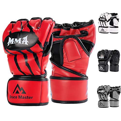 Brace Master Guanti MMA UFC Gloves per Grappling, Lotta, Muay Thay, Pugilato, Arti Marziali Miste,...