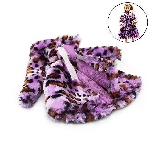 Xiton 1pc Design Moderno Peluche Cappotto Lungo Abito Cappotto Vestito per la Decorazione Bambola...