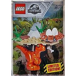 bekannt Conocido Lego® Jurassic World Baby Raptor con 121801Nido con instrucciones de construcción