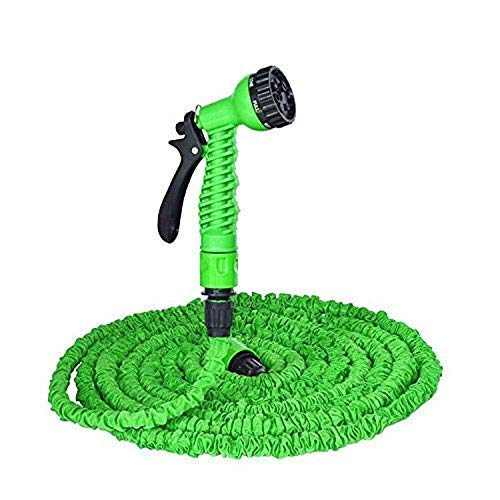 Ardith 50 ft Plastic Expandable Nozzle Magic Flexible Water Hose Pipe with Spray Gun and 7 Adjustable Modes