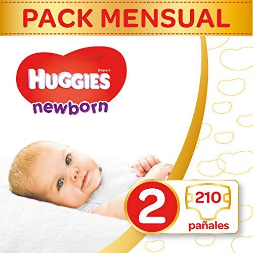 Huggies pannolini Ultra Comfort Newborn Baby Taglia 2mezza Mona tsbox, 1er Pack (1X 210pezzi)