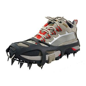 TourKing Winter Ice Traction Cleats Universal 18 dientes, equipo de escalada Crampones Pinzas para hielo Crampon Ice Snow Ground Antideslizante 3