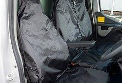 AutoCompanion – Housses universelles imperméables pour sièges de van (1 housse de siège et 1 housse de banquette) Noir Liste de prix