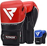 RDX Guantes de Boxeo para Entrenamiento y Muay Thai | Cuero Vacuno Mitones para Kick Boxing, Sparring | Boxing Gloves para Combate Training, Saco Boxeo