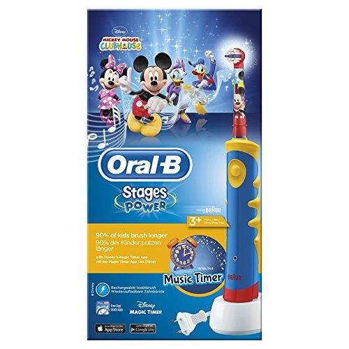 Oral-B Stages Power Kids - Cepillo de dientes eléctrico, diseño Mickey Mouse