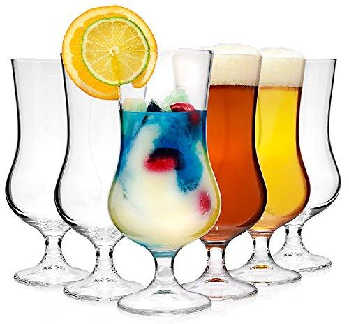 Bormioli, set di bicchieri da cocktail'Tropical', 6pezzi, capacità: 500ml, altezza dei bicchieri: 19,7cm; in vetro universale di tendenza, adatto per cocktail, birra o soft drink