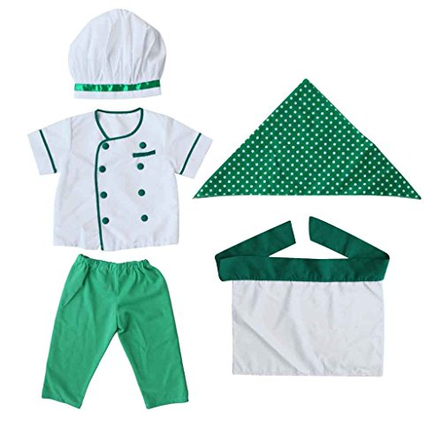 Baby-Neugeborene-kinder-kochjacke-fotoshooting-Fotografie-Prop-Outfit-Kostm-Grn