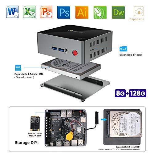 SeeKool J45 Mini PC Windows 10 Desktop Computer, Intel Gemini Lake J4205 Processore, 8GB...