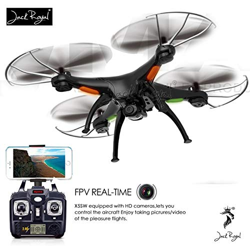 JACK ROYAL WiFi RC Drone with FPV Camera, Connect to Phone with The Help of APP , 6 Axis Quadcopter Drone (Color May Vary Black or White)