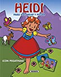 Heidi para colorear y pegar