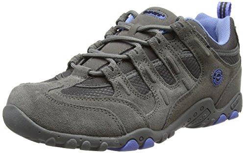 Hi-Tec Quadra Classic - Zapatillas de Senderismo para Mujer, Gris (Grey/Charcoal/Cornflower 051), 39 EU