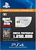 Grand Theft Auto Online - GTA V Cash Card | 1,250,000 GTA-Dollars | Codice download per PS4 - Account italiano