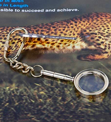 Accents & Décor Gold Brass Handle Magnifier Key Chain