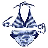 FidgetGear Women Sexy High Cut Out Bikini One Piece,Women Sexy Solid Color Lacing Bikini for Swimming 27