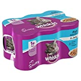Whiskas Cat Tins Fish Selection in Jelly, 6 x 390g