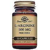 Solgar L-Arginine 500 mg Vegetable Capsules - Pack of 50