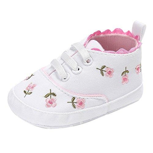 Ginli scarpe bambino,Scarpe Primi Passi Scarpine Neonato Neonate Neonato Neonate Floral Culla Scarpe Soft Sole Sneakers Antiscivolo Canvas