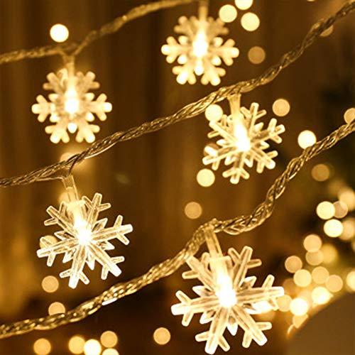 BRone Luci Albero di Natale,Luci Stringa 3M 20 Luci Albero di Natale Luci Stringa Leggiadramente, per Interni Festa di Matrimonio Albero di Natale Capodanno Decorazione del Giardino