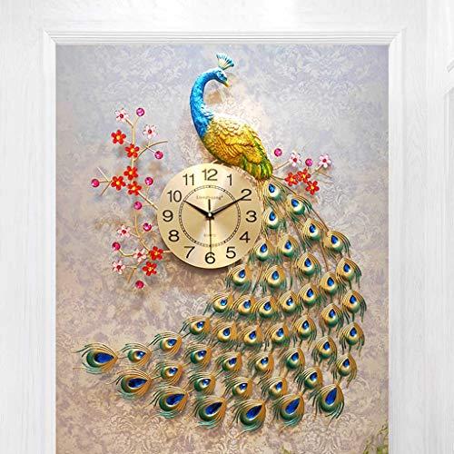 Orologio da Parete Silenzioso/Orologio al Quarzo Pavone, Orologio Creativo per la Decorazione della...