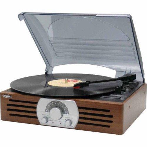 Jensen JTA-222 Stereo Turntable (Brown)