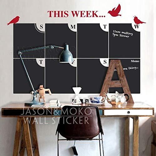wassaw Home Decoration Wallpaper Prodotti per Lavagna Weekly Planner Calendar Vinyl Decal Home Decor...