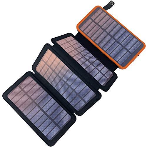 PEALIKER Caricabatterie Solare 25000mAh Solare Power Bank Portatile Batteria Esterna Impermeabile...