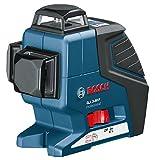Bosch GLL 3-80 P (3 Linien 360° Projektion, 4x 1,5 V Batterien Handwerkerkoffer, Arbeitsbereich mit Empfänger: 80 m)