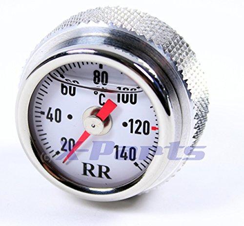 RR Öltemperatur Anzeige Ölthermometer Kawasaki EL250 Ninja 250R ab 2009 WEISS