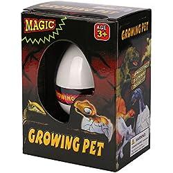 PLFUR El Dinosaurio de incubación mágico agrega el Juguete Inflable del niño de los Huevos de Dino Que Crecen en Agua (A)