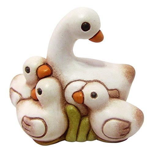 THUN - Oca Bianca con Anatroccoli - Statuine Presepe Classico - Ceramica - I Classici