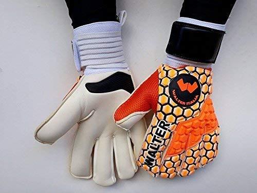 walter guanti da portiere professionali modello lizard (arancio, 10)