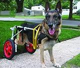 Ajustable para silla de ruedas para perro (L), peso 60to 100libras, patas traseras rehabilitación, luz peso