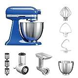 KitchenAid Küchenmaschine Mini | 5KSM3311XE | STARTER PAKET inkl. Gemüseschneider, Fleischwolf und Standardzubehör | Dein Einstieg in die KitchenAid-Welt! (Twilight Blue)