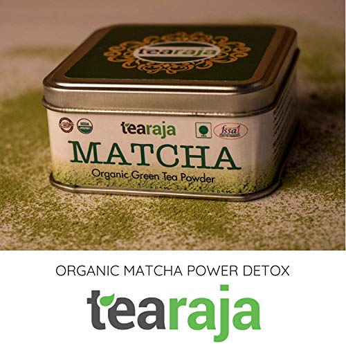 Organic Matcha Power Detox, 30 GMS | USDA Certified | Stone Ground | Japanese Style | Spirulina Added | Instant Powerhouse | Enhance Your Weight Loss Journey | Detoxify Your Body | Get Fit Faster |