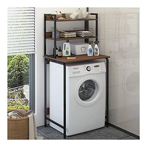 Waschmaschinenregal Boden Badregal, 3-lagiges Waschmaschinenregal aus Kohlenstoffstahl
