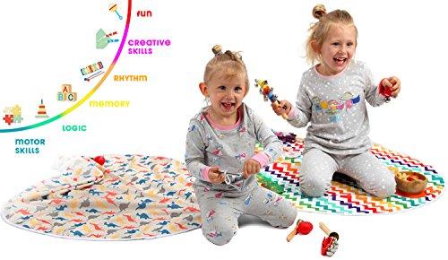 Kenley Strumenti Musicali per Bambini – Percussioni e Ritmo Maracas Legno Giocattolo per Bimbi