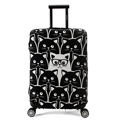 Maddy's Home Elastica Suitcase Cover Proteggi bagagli luggage Cover,Pop Gatto (XL (Fit 29'-32'...