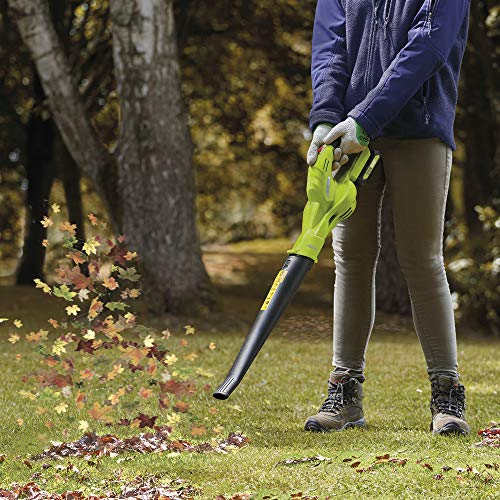 The Garden Gear Cordless Leaf Blower is hard to miss thanks to its vibrant colour. A 1.7kg cordless model is a lightweight tool that is easy to work with and to store.