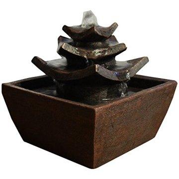 Zen'Light Fontaine d'Intérieur, Marrón, 16,5 x 16,5 x 15,5 cm 3