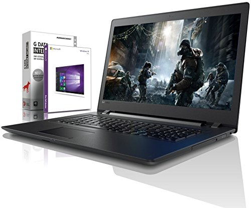 Lenovo (17,3 Zoll) Notebook (Intel Pentium 4415U 4-Thread CPU, 2.30 GHz, 8GB DDR4 RAM, 512GB SSD, DVD±RW, Intel HD 610, HDMI, Webcam, Bluetooth, USB3.0, WLAN, Win 10 Prof. 64 Bit, MS Office) #6150