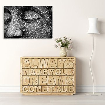 Feeby Frames, Cuadro de pared, Cuadro decorativo, Cuadro impreso, Cuadro Deco Panel, BUDA 2, BLANCO Y NEGRO 6