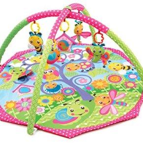 Playgro 0182655 - Alfombra de juego y gimnasio, diseño Bugs'n Bloom