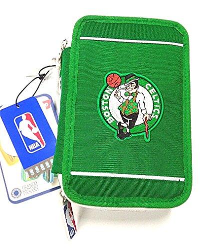 NBA ASTUCCIO SCUOLA TRIPLO 3 ZIP BOSTON CELTICS