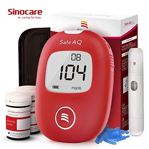 Diabete test kit glucosio nel sangue kit di test del sangue kit di monitoraggio dello zucchero con...