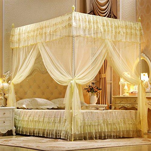 Mengonee Doccia aperta a tre porte Mosquito Net letto matrimoniale tende letto letto a tenda letto a...