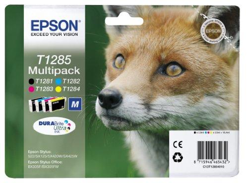 Epson T128 Serie Volpe, Cartuccia originale getto d'inchiostro DURABrite Ultra, Formato Standard,...
