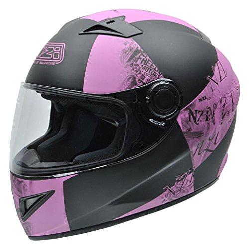 Cascos de moto baratos NZI 150196G678 Must Multi Victory Negro y Rosa