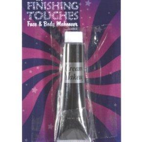 Smiffy's-24401 Make-up FX, Maquillaje acuoso en Crema, Tubo de 28ml (1 Onza), Color Negro, No es Applicable (24401)