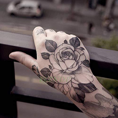 5pcs-Impermeabile Autoadesivo del Tatuaggio temporaneo Fiore Rosa Falso Braccio Collo del Piede tato Body Art Ragazza Femmina Tatuaggio Maschile 5 Pezzi-